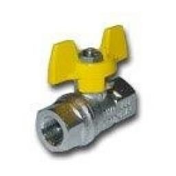 "2 WAY BALL VALVE 1/4""BSPP BUTTERFLY"