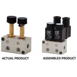 AZ Pneumatica« 3/2 Solenoid V lve Manifold - With Detented M