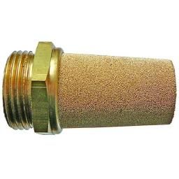 "1"" BSP sintered bronze long silencer"