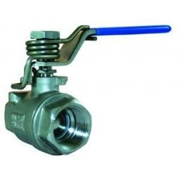 Stainless Steel Ball Valve - T wo-Piece - With Spring Close L