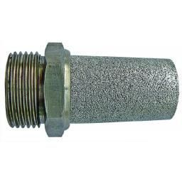 "1/2"" BSPP Male Thread - Stainless Steel Silencer"