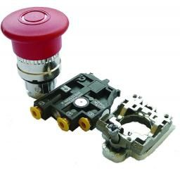 Latch Pushbutton Red D40 NC/NO