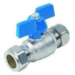 Brass Ball Valve - Compression Ends - Size 22MM