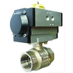 "1/4"" Double Acting Actuation D irect Mounted Brass Ball Valve"