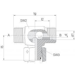 Shuttle Valve Swivel on Branch 12 L