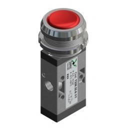 TECHNO VLVE-RED PUSH BUTTON 30 MM SPRING