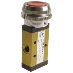 RED PUSH BUTTON 30MM SPRING