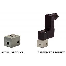 AZ Pneumatica« Single Manifol for 15mm NC Solenoid Valve -