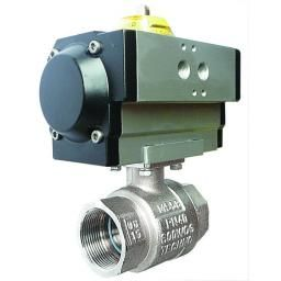 "1/2"" BSPP Double Acting DM S/Steel 3-Piece Ball Valve"