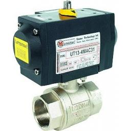 Brass Ball Valve Single Acting - Size 1.1/4""