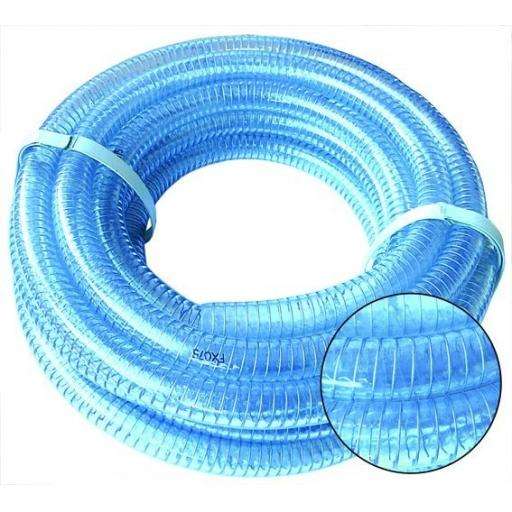 "1/2"" (12mm) I/D X 30M Wire Re inforced Suction and Del Hose"