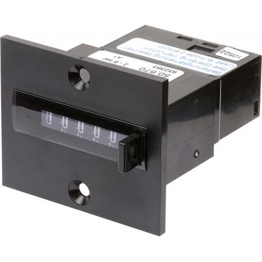 PNEUMATIC TOTALISING COUNTER 6 DIGIT WITH RESET PANEL MOUNT