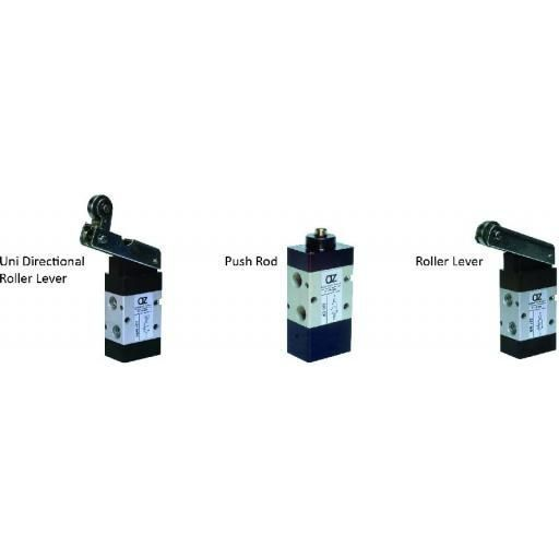 5/2 Uni-Directional Valve G1/8 - Mechanically Actuated Valve