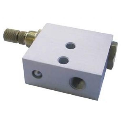 "FLOW CONTROL VALVE WITH QUICK EXHAUST FUNCTION 1/8"" FEMALE"
