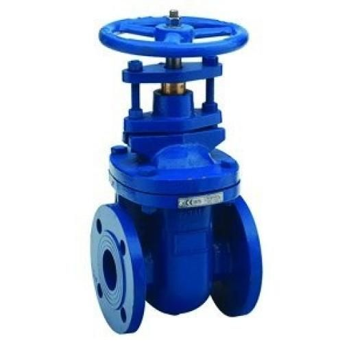 "Cast Iron Gate Valve BS 5150 - PN16 - Size 6"" x Weight (kg)"