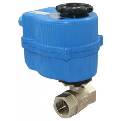 "1/2"" BSPP Female- 24V Electric al Act. Ball Valve-Full Bore"
