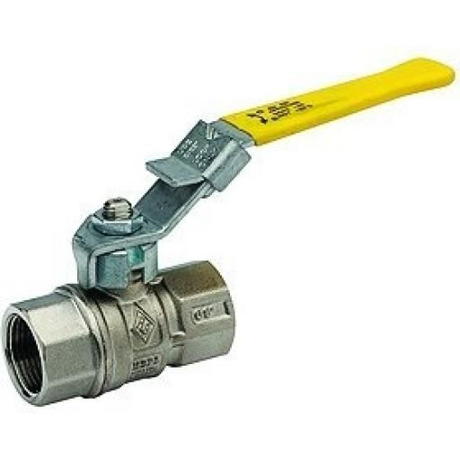 Brass Ball Valve - With Locking Lever - Size 1/2""